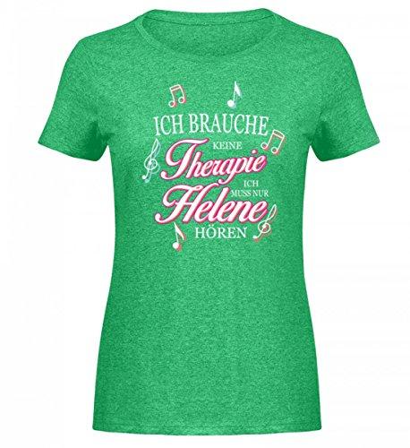 GetMerch Ich Muss Nur Helene hören Schlager Fan-Shirt für Fischer Fans - Damen Melange Shirt