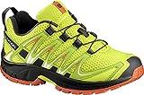 Salomon Enfant XA Pro 3D Chaussures de Course à Pied et Trail Running - Jaune/Vert (Lime Punch./Black/Scarlet Ibis), Pointure: 30