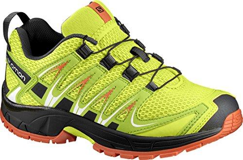 Salomon Enfant XA Pro 3D Chaussures de Course à Pied et Trail Running Jaune/Vert (Lime Punch./Black/Scarlet Ibis)