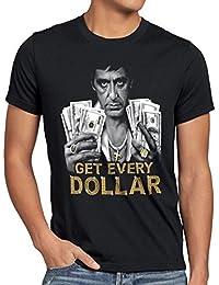 style3 Tony Get Every Dollar T-Shirt Homme pacino pablo US montana escobar