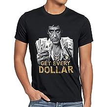 style3 Tony Get Every Dollar Camiseta para hombre T-Shirt pacino pablo US montana