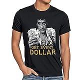 style3 Tony Get Every Dollar Camiseta para hombre T-Shirt pacino pablo US montana, Talla:XL