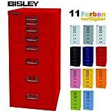 BISLEY Schubladenschrank 29 aus Metall mit 8 Schubladen