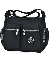 d6968ff67f Women s Casual Multi Pocket Nylon Cross Body Shoulder Bag Messenger Bags  Handbag Tote Purse