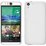 PhoneNatic Case für HTC Desire Eye Hülle Silikon weiß X-Style + 2 Schutzfolien