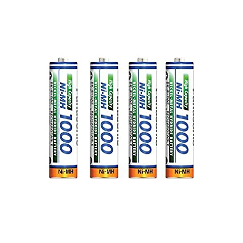 weltatec @4 x AAA Rechargeable Batteries High mady 1000mA (Cells
