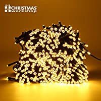 70740 Christmas Workshop Benross 200 LED Chaser String Lights Warm White, Multi Function Flashing Fairy Light, 8 Modes, Indoor & Outdoor - Garden Party Wedding by Benross Group
