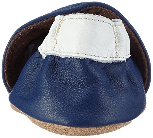 HOBEA-Germany  Lauflernschuhe Herz, Chaussons pour enfant mixte bébé Bleu (blau)