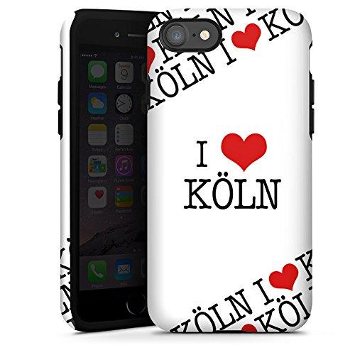 Apple iPhone X Silikon Hülle Case Schutzhülle Köln Cologne Statement Tough Case glänzend