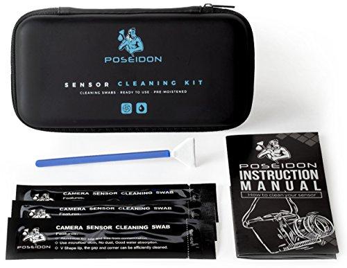 Kit Pulizia Sensore Professionale con Liquido Pulente Pre-Applicato | Tamponi Umidificati 10 x 24mm in MicroFibra | Adatti per DSLR SLR Full Frame CCD/CMOS