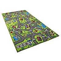 HEIRAO Baby Play Mats, Large Fun Town Cars Play Road Rug, EVA Foam Toy Mat, Baby Crawling Mat, 153 82 cm