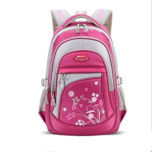 Leefrei Schulrucksack Schulranzen Sports Rucksack Reisegepäck Daypacks Backpack für Mädchen Jungen & Kinder Damen Herren Jugendliche mit der Großen Kapazität (Rosa) (Rosa Schulrucksack)