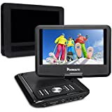 NAVISKAUTO 9 Inch Portable DVD/CD Player USB/SD Card Reader With 5 Hour Built-In Rechargeable Battery