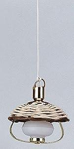Tejido Que cuelga la lámpara de Queroseno lámpara - luz Kahlert 10537 - Muñeca Mini Accesorios