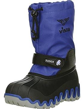 Vista Canada POLAR Kinder Jungen Mädchen Winterstiefel Snowboots blau/schwarz, Größe:37/38, Farbe:Blau