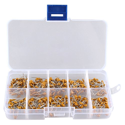Amazon.es - Ceramic Capacitor Assortment Kit - Set of 300pcs: 10pF to 100nF in a box