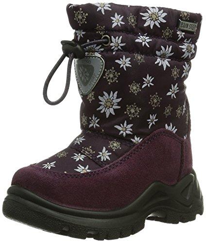 Naturino NATURINO VARNA, Stivali da neve con caldo rivestimento interno Bambina, Viola (Violett (9134PRUGNA)), 25 EU (0.5 Kinder UK)