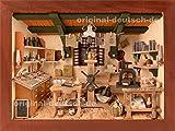 3D Holzbild Druckerei, lasiert - Geschenk für Drucker, Schriftsetzer
