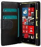 Melkco 4895158698652 PU Mini C263 Mappen-Buch Typ Tasche für Nokia Lumia 820 Schwarz