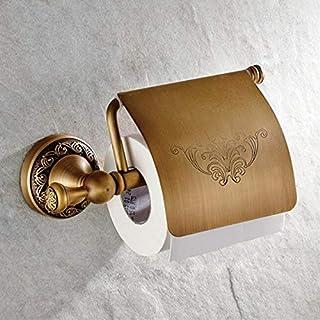 king do way Klopapierhalter Retro Vintage Toilettenpapierhalter WC Rollenhalter Papierhalter, Antik Vintage Stil Bohren Wandmontag Wandhalterung, Home Badezimmer Zubehör