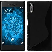 Funda de silicona para Sony Xperia XA1 - S-Style negro - Cover PhoneNatic Cubierta + protector de pantalla
