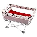 ZLMI Krippe Tragbare Mini-Neugeborene Krippe Zusammenklappbare Reise Baby-Krippe Mit Moskitonetz Für 0-18 Monate Baby,Pink