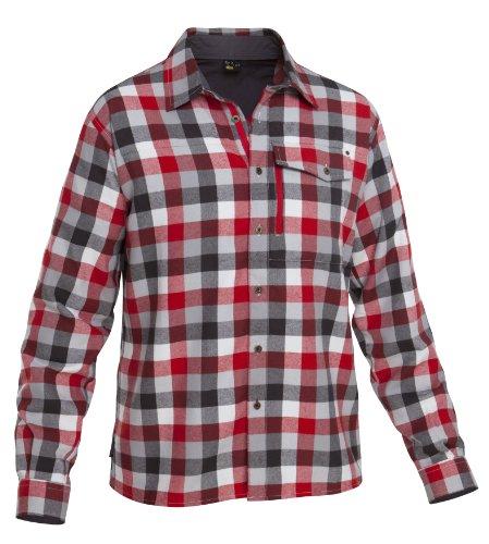 Salewa Therma PL M SRT Chemise à manches longues pour homme Rouge/gris/carreaux
