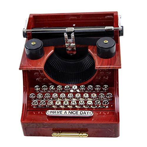 BGFBHTY New Home Retro Vintage Schreibmaschine Spieluhr Für Haus Büro Mechanische Dekoration Kinder Retro Spieluhr