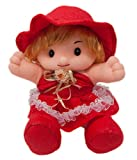#8: FunZoo Daisy Girl Doll, Cute Soft Stuffed Toy (25 CM, Red)
