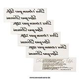 Tattoodrucker 1 x Don't Dream Your Life, Live Your Dreams - Schwarzes Temporary Körper-Tattoo Schriftzug (1)