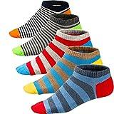 Ueither Calze da Uomo Coloratissimi in Cotone Stilisti Sportive Sneaker Calzini Corti Fantasia dal Design Comodo (39-46, Colore 2)