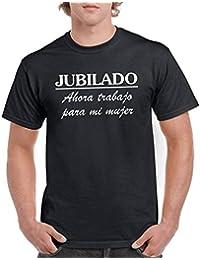 Camisetas divertidas Parent Jubilado Ahora Trabajo Para Mi Mujer - Para Hombre Camiseta