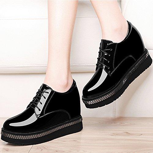 Khskx-shoes Chaussures Compensées Avec Une Semelle Épaisse Dames Chaussures Match Tout Dans Le Documentaire Des Femmes Coréennes. Trente-quatre Noirs Trente-quatre