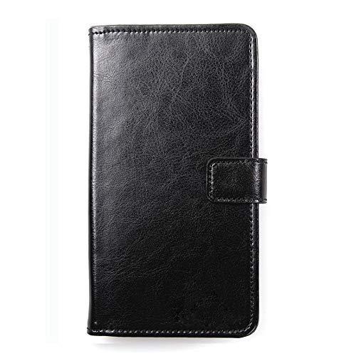 Dingshengk Schwarz Premium Leder Tasche Schutz Hülle Handy Case Wallet Cover Etui Für Doogee S60 Lite