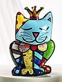 ROMERO BRITTO figura - Gatto Royalty - Pop Art Miami, edizione limitata