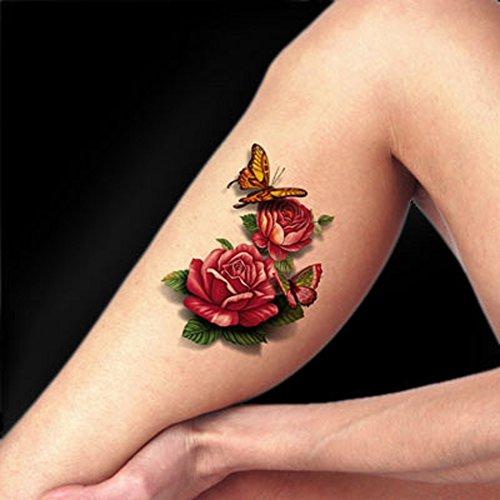 tafly-tatuaggio-temporaneo-farfalla-3d-rosso-peonia-corpo-arte-falso-adesivi-5-fogli