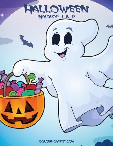 Halloween Malbuch 1 & 2 -