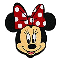 Iron on Patches - Minnie Mouse Disney Comic Children - red - 6,5x7,5cm - Application Embroided Patch Badges