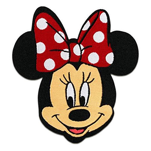 Aufnäher/Bügelbild - Minnie Mouse Disney Comic Kinder - rot - 6,5x7,5cm - by catch-the-patch Patch Aufbügler Applikationen zum aufbügeln Applikation Patches Flicken