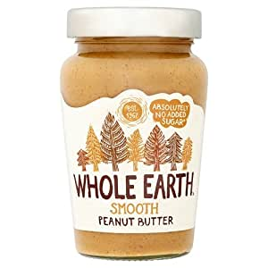 Whole Earth Original Peanut Butter Smooth 340 g (Pack of 6)
