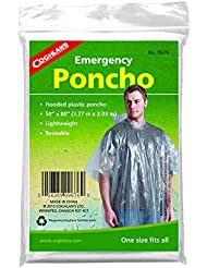 Coghlans Men's Clear Emergency Survival Poncho-Transparent