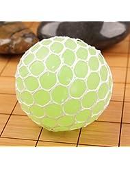 caomoa bola Squishy de Mesh Squeeze anti Stress bola de uvas libera el juguete de la bola de presión con color aleatorio–1pcs, verde
