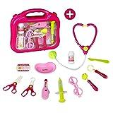 Kit du Docteur medecin Pédiatre imitation Kit malette docteur avec carry case Cadeau pour Fille