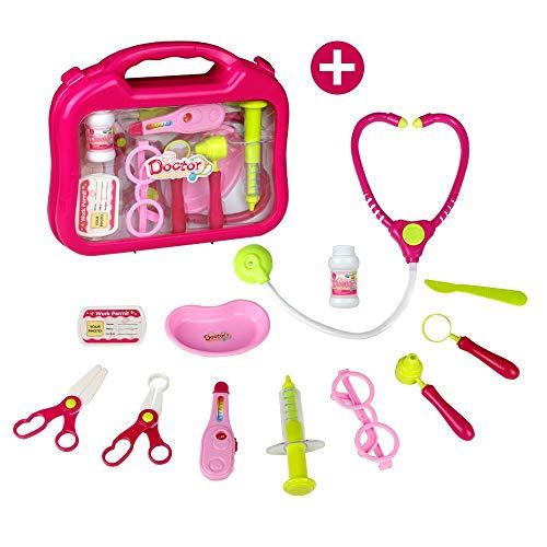 Medizinische Kit, Arzt Kinder, Arztköfferchen Set, Rosa Geschenk für Kinder 3 4 5 6, Zufällige Lieferung mit Zwei Arten
