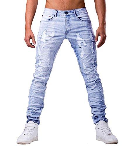 Jeansnet - Jeans fashion homme Jeans JNST6100 bleu - Bleu Bleu