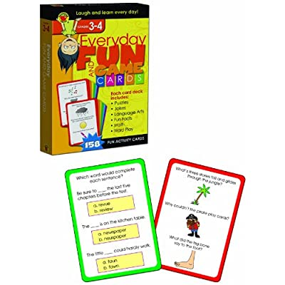Everyday Fun And Game Cards Activity Cards, Grades 3 - 4