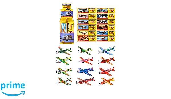 Wurfmaterial Karneval 48 x Styropor-Flieger Mitgebsel Flugzeug