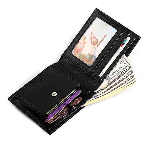 ZXDOP Wallets-Männer-Denim mit lederner Brieftasche Retro- Männer kurzer Absatz-Leder-Beutel der Männer ( farbe : Blau ) Blau