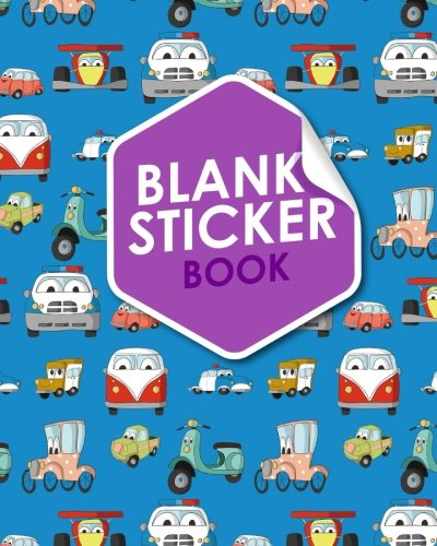 Blank Sticker Book: Blank Sticker Album, Sticker Album For Collecting Stickers For Adults, Blank Sticker Collecting Album, Sticker Collecting Album Boys, Cute Cars & Trucks Cover: Volume 99 por Rogue Plus Publishing