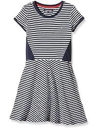 Tommy Hilfiger Resa Stripe Knit Dress S/S, Vestido para Niñas, Azul (black iris), 14 años